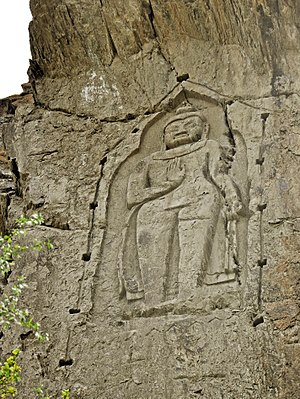 Gilgit - The Kargah Buddha outside of Gilgit dates from around 700 C.E..