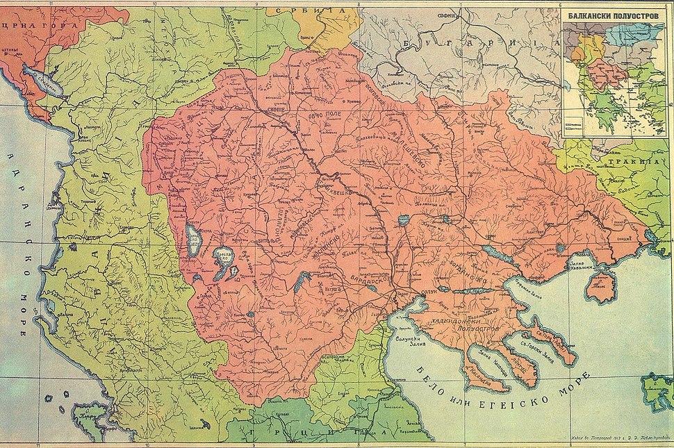 Karta Makedonija 1913