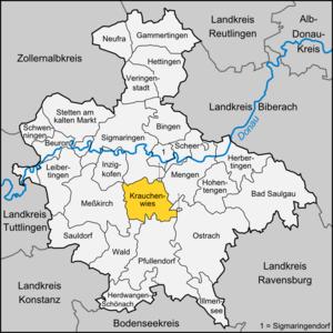 Krauchenwies - Image: Karte Krauchenwies