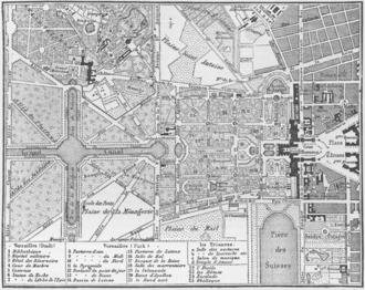 Alexandre Bontemps - Plan of the Chateau de Versailles, in Bontemps' charge