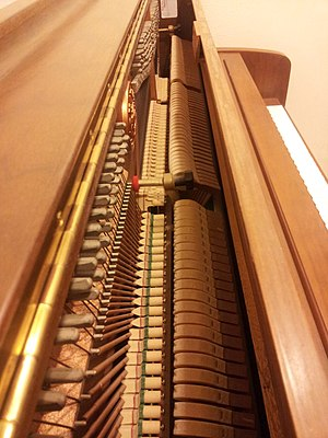 Kawai Musical Instruments - Inside of the Kawaii Continental Upright