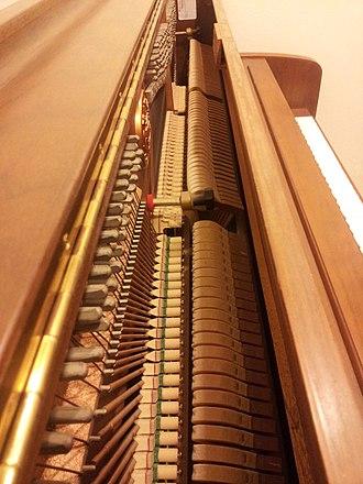 Kawai Musical Instruments - Inside of the Kawaii Continental Upright