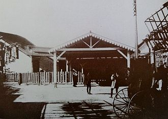 Kawasaki Station - The station entrance in 1901