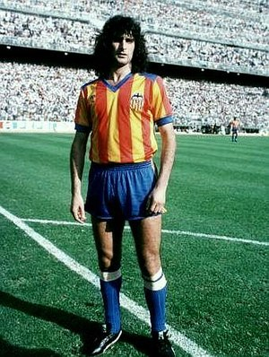 Valencia CF - Argentine forward Mario Kempes in 1979. He played 8 years for the club, becoming top scorer in two seasons.
