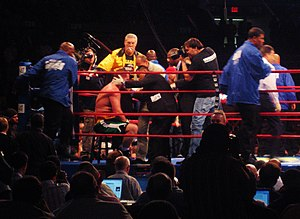 Kevin McBride - McBride in his corner during the Andrew Golota fight at the Madison Square Garden in October 2007.