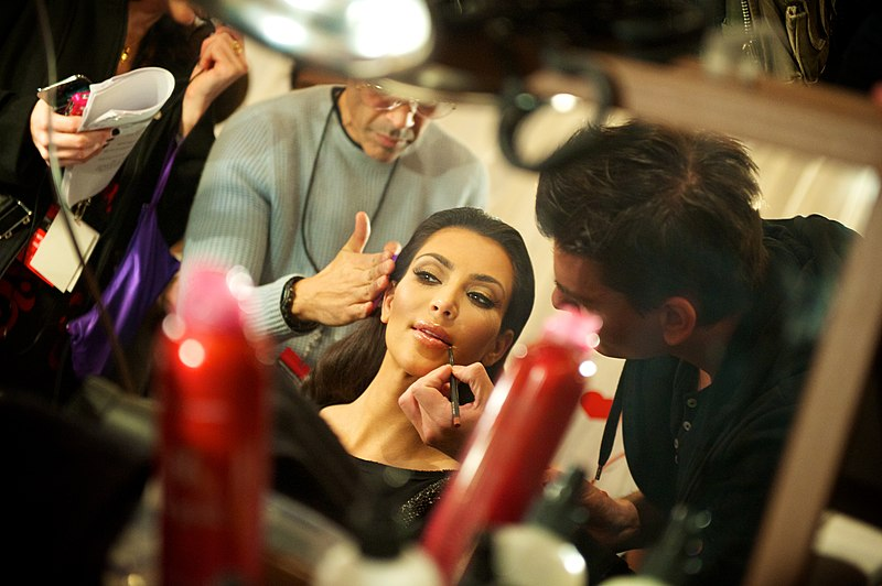 File:Kim Kardashian backstage at The Heart Truths Red Dress Collection 2010.jpg