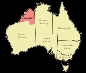 Kimberley (Western Australia) - Location in Australia
