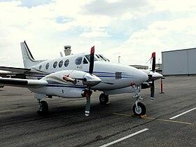 Un B90 King Air similaire à celui impliqué dans l'accident.