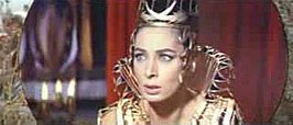 Rita Gam in de trailer van King of Kings (1961)