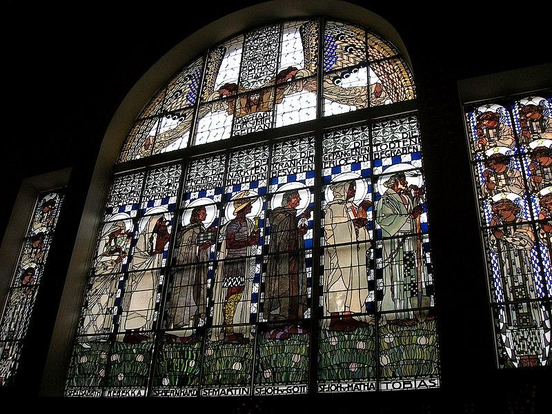 Kirche Steinhof Fenster von innen 2006