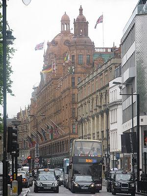 Brompton Road - Brompton Road in the district of Knightsbridge
