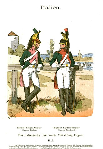 Giuseppe Federico Palombini - Regina (L) and Napoleone (R) Dragoons of the Royal Italian Army