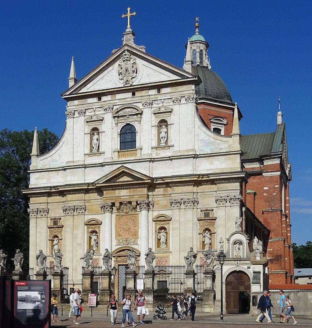 Grodzka w stronę Wawelu - kościół śś. Piotra i Pawła