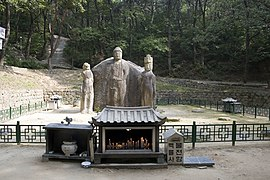 Korea-Gyeongju-Baekryulsa-Four sided stone image of Buddha-01.jpg