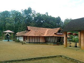 Kottanad town in Kerala, India