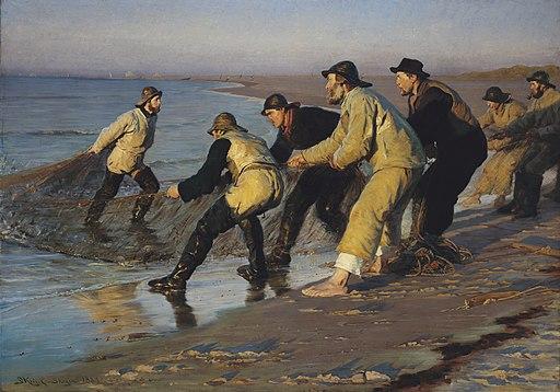 Krøyer fiskere trækker vod
