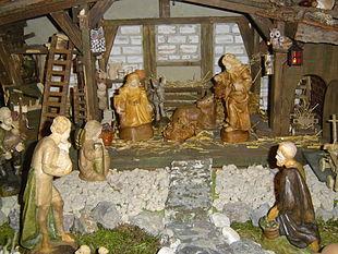 Moderne Weihnachtskrippe.Weihnachtskrippe Wikipedia