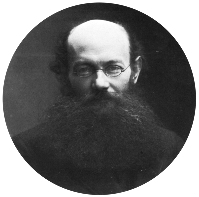 Photo of the anarchist Peter Kropotkin