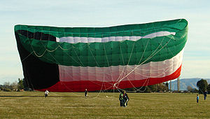 Flag of Kuwait - Peter Lynn's Kuwaiti Flag kite