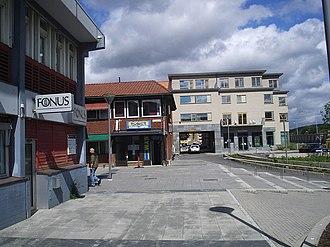 Partille Municipality - Image: Kyrktorget i Partille, vid Polisstation och Fonus, den 28 juni 2006