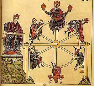 La ruota della fortuna (miniatura del XII secolo)
