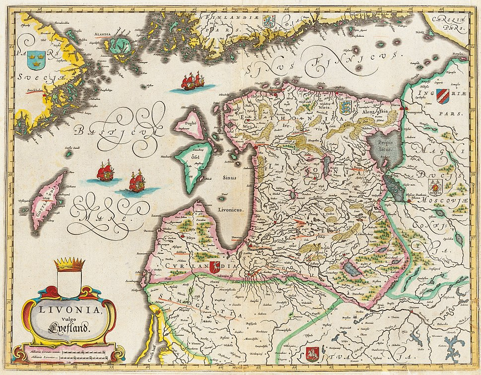 LIVONIA vulgo Lyefland-Joan Blaeu, 1662