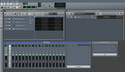 Screenshot of LMMS 1 after start up.