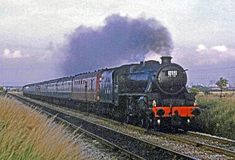Fifteen Guinea Special - The Fifteen Guinea Special at Barton Moss on the last leg from Manchester Victoria to Liverpool Lime Street hauled by Stanier 5MT 45110.