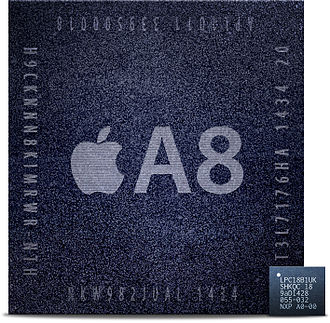 Apple motion coprocessors - Image: LPC18B1 and A8