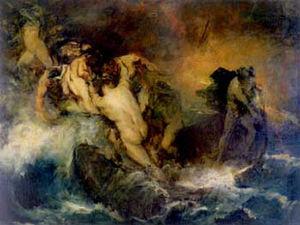 Félix Hidalgo - La Barca de Aqueronte, 1887, Museo Nacional de Pintura (Madrid).