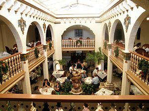 Columbia Restaurant - Indoor courtyard dining room, Ybor City
