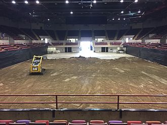 La Crosse Center - La Crosse Center setting up for monster trucks