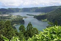 Lagoa das Sete Cidades, Miradouro da vista do Rei, Sete Cidades, Ponta Delgada, ilha de São Miguel, Açores.JPG
