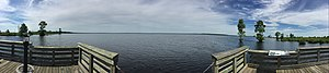 Lake Drummond - Panoramic image of Lake Drummond