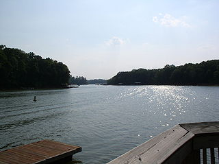 Lake Hartwell lake in the United States of America