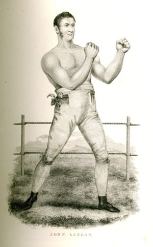 Tom Spring - The Irish boxer Jack Langan who fought Spring twice, losing on both occasions