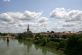 Langon and the Garonne