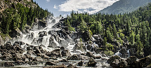 Altai Nature Reserve - Great Falls of the Chuchinsky River, one of the six areas of the Altai Reserve open to tourists
