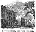 LatinSchool BedfordSt Boston HomansSketches1851.jpg