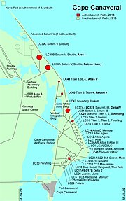 Launch complexes at Cape Canaveral Air Force Station