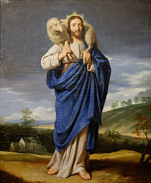 Christianity and animal rights - Depictions of Jesus have often shown him in terms of animal-related imagery such as that of the 'good shepherd', an example being this 16th century work by Philippe de Champagne.