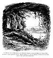 Le Lyon de nos pères, Vingtrinier et Drevet, 1901, page 098, dessin de Joannès Drevet, la grotte de J.-J. Rousseau, aux Étroits.jpg