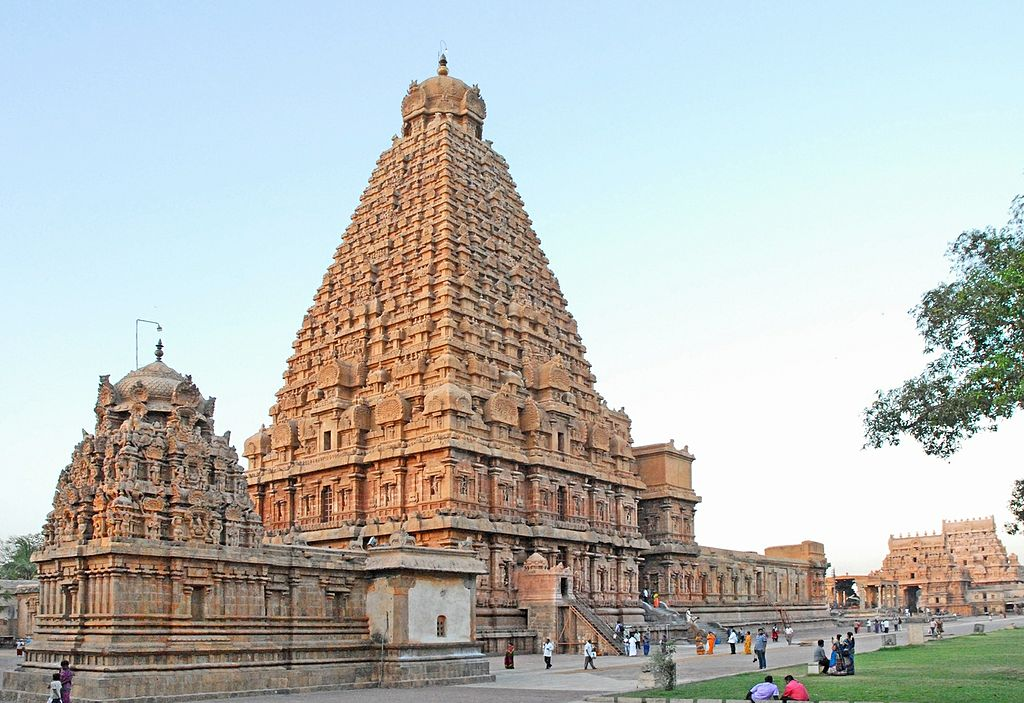 Brihadeeswarar Temple monuments. These are a part of the UNESCO World Heritage Site known as the Great Living Chola Temples.
