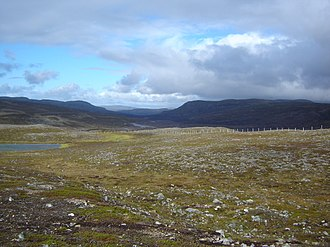 Lebesby - View of the Ifjordfjellet in Lebesby