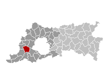 Location of Lennik in Flemish Brabant