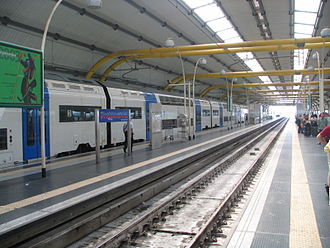 Fiumicino Aeroporto railway station - Inside the train hall.