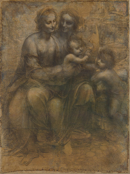 Leonardo - St. Anne cartoon