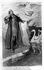 The Children of Lir, transformed into swans in Irish tales
