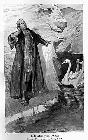 The Children of Lir, transformed into swans in...