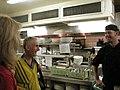 Les introduces Jamie Burton to the Solé chef (14387093195).jpg